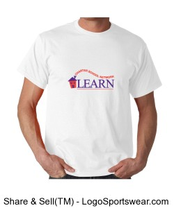 Adult LEARN T-Shirt (White) Design Zoom