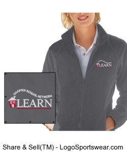 LEARN Full Zip Fleece Jacket (Ladies) Design Zoom