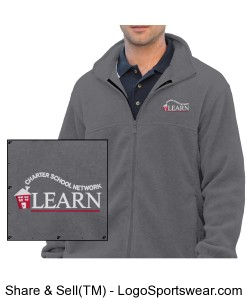 LEARN Full Zip Fleece Jacket (Men) Design Zoom